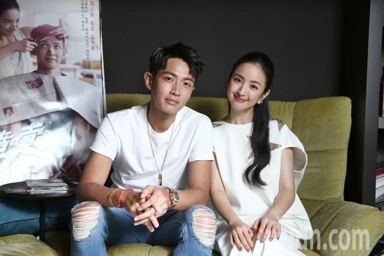 柯震東(左)與林依晨(右)演出電影《打噴嚏》。記者蘇健忠/攝影