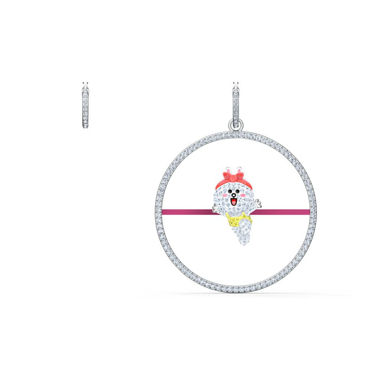 施華洛世奇LINE FRIENDS不對稱穿孔耳環/5,990元。圖/施華洛世奇提...