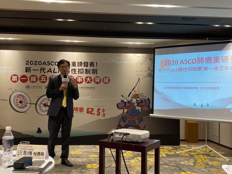 台灣胸腔暨重症加護醫學會秘書長王金洲表示,肺癌在治療上,依照細胞型態與基因變異決...