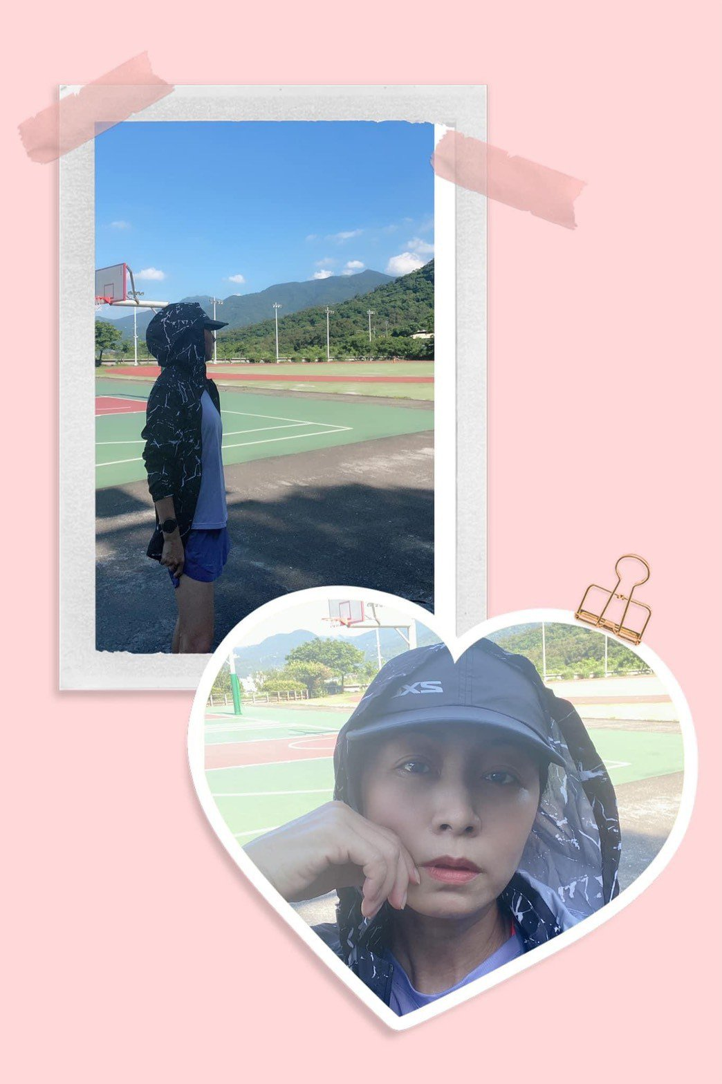 天氣炎熱,方文琳依然出門跑步。圖/摘自臉書