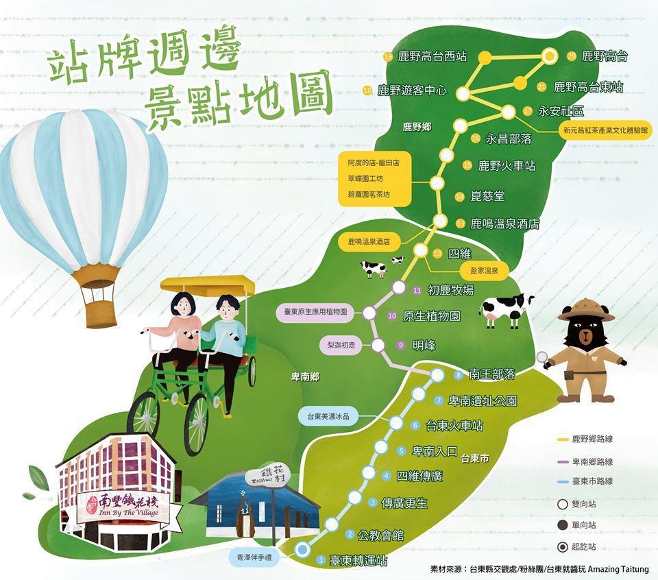 台東南豐鐵花棧旁邊是台東轉運站,可直接輕鬆搭乘台灣觀光巴士參加熱氣球嘉年華。 素...