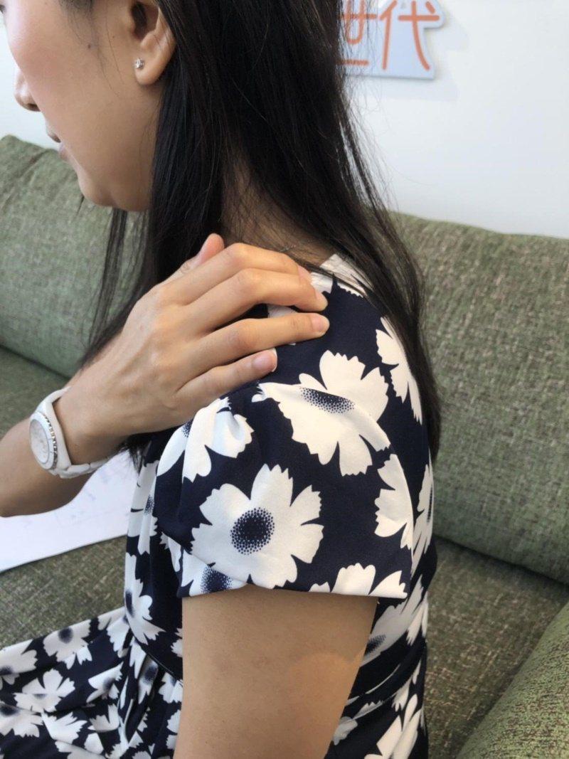 肩井穴。 圖/羅珮琳中醫師提供