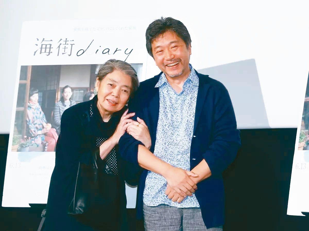 樹木希林因演出日本名導是枝裕和的多部電影,而彼此建立了很好的朋友關係。 圖/取自...
