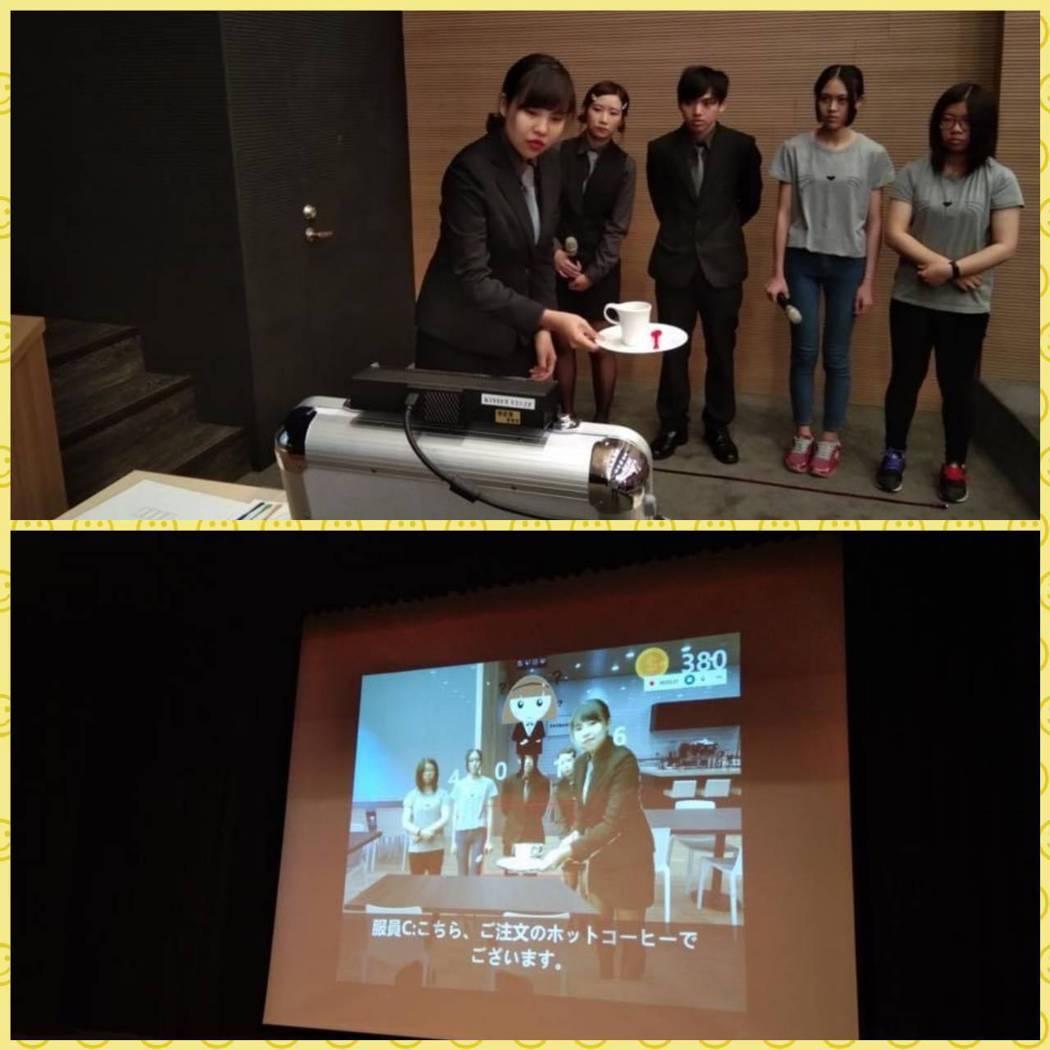「餐旅日語數位學習劇場」學生成果展演。 健行科大/提供。