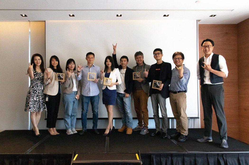 獲獎 All Star Award 的五家新創公司與國家發展委員會產業發展處處長...