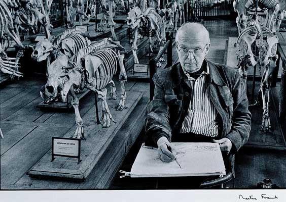 臺北市立美術館典藏法蘭歌.瑪汀作品《布列松》,為布列松留下個人肖像。 圖/台北市...