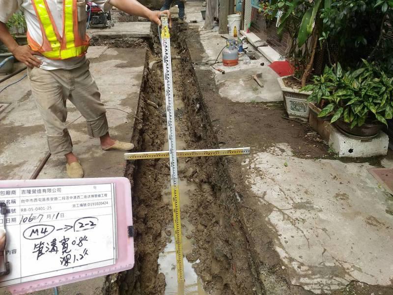 不少家戶周遭埋設水、電、瓦斯等管線,議員力促市府應建置管線圖庫,並開放民眾查詢。圖/台中市府提供