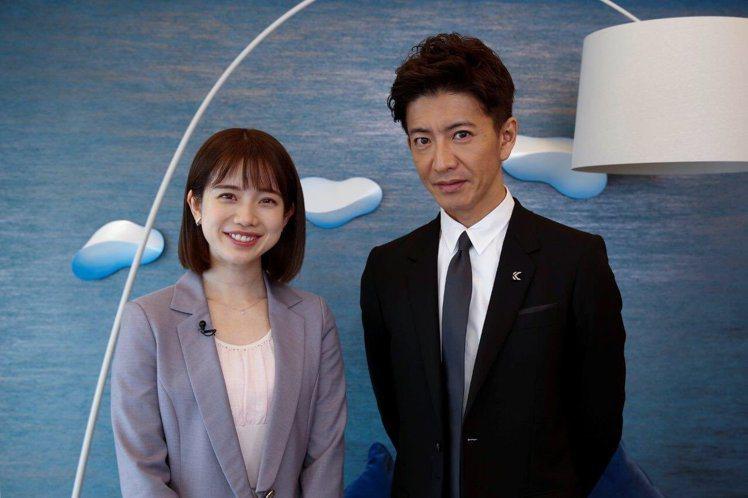 木村拓哉與女主播弘中綾香首度合作。圖/摘自推特