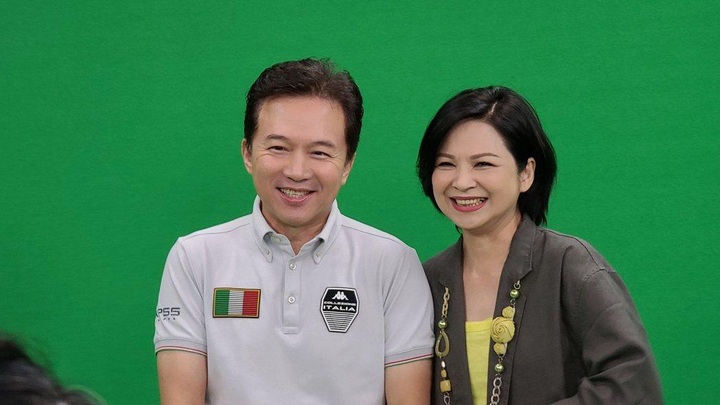 孫鵬(左)、楊貴媚當年曾合拍大愛戲「芳草碧連天」。圖/大愛台提供