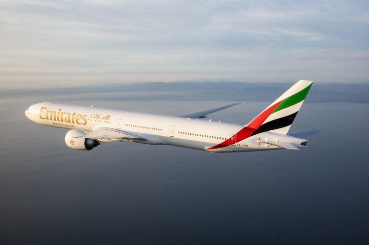 阿聯酋航空於2020年6月17日正式復飛台北。圖/阿聯酋航空提供