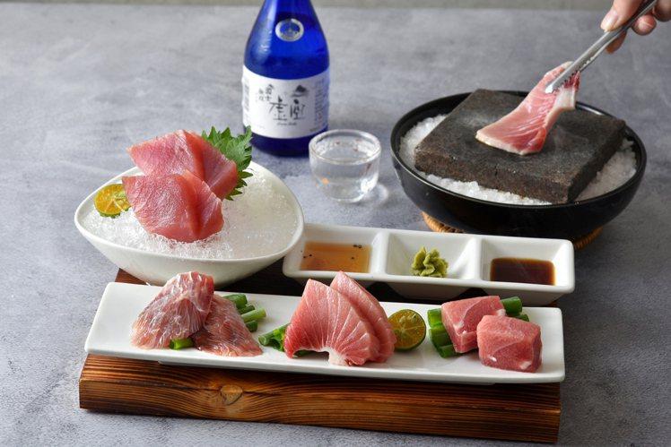 藝奇新菜上市,趁鮪魚季推出多道鮪魚料理,圖為「炙燒鮪魚盛合」。圖/王品集團提供