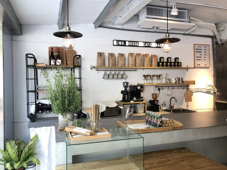 「JWH House」包括咖啡空間。記者楊詩涵/攝影