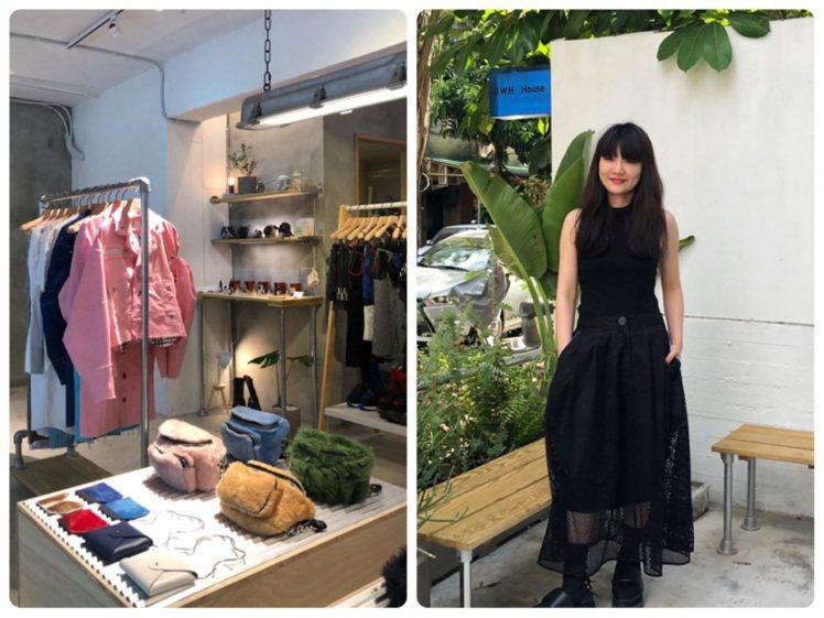 設計師黃薇在台北市新中街成立首個品牌實體店鋪「JWH House」。記者楊詩涵/...
