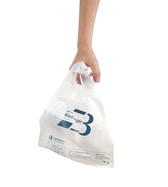 袋子以生分材製成,此為生活常見的背心袋。 世農新材料/提供