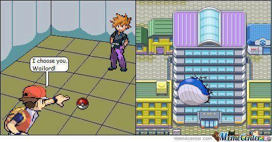 在大樓內進行對戰,然後派出吼鯨王就會...圖源來自memecenter