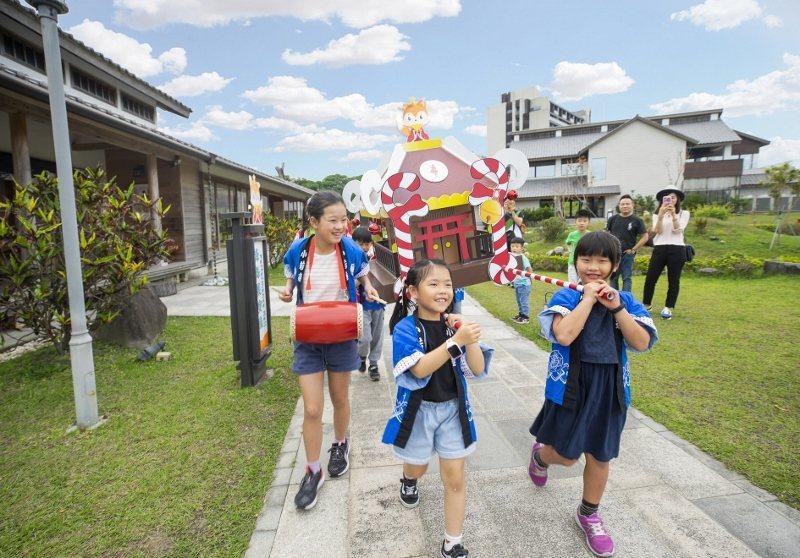 受小朋友歡迎的「輿神同行」為戶外體驗活動,地點就在綠舞日式主題園區。 綠舞/提供