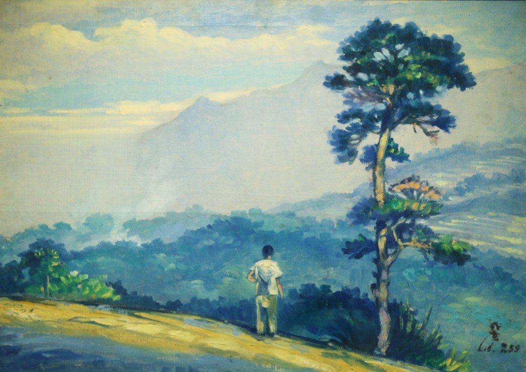 劉兆玄16歲時的油畫作品。 圖/聯合報系資料照片