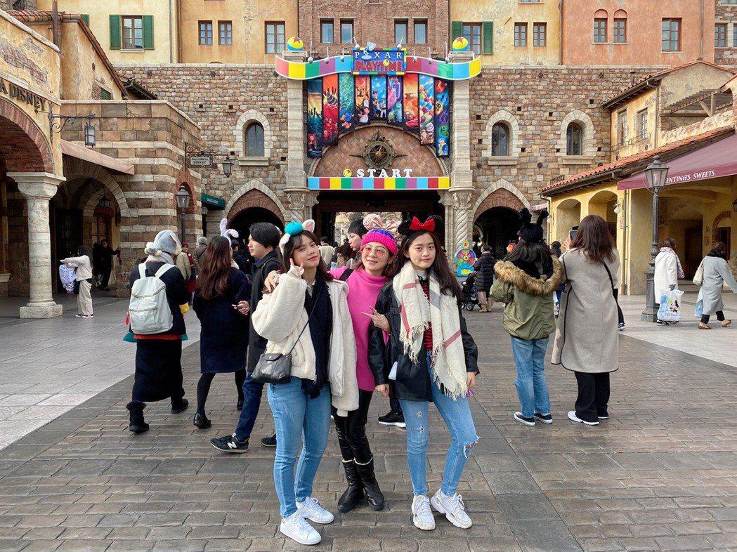 王彩樺之前才帶女兒去日本玩。圖/王彩樺提供