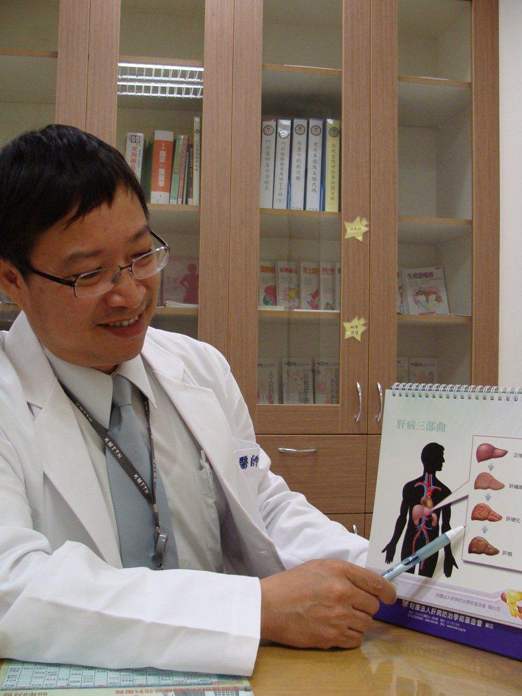 高雄醫學大學副校長余明隆研究團隊發現,B.C肝雙重感染者在接受C肝口服抗病毒藥物...