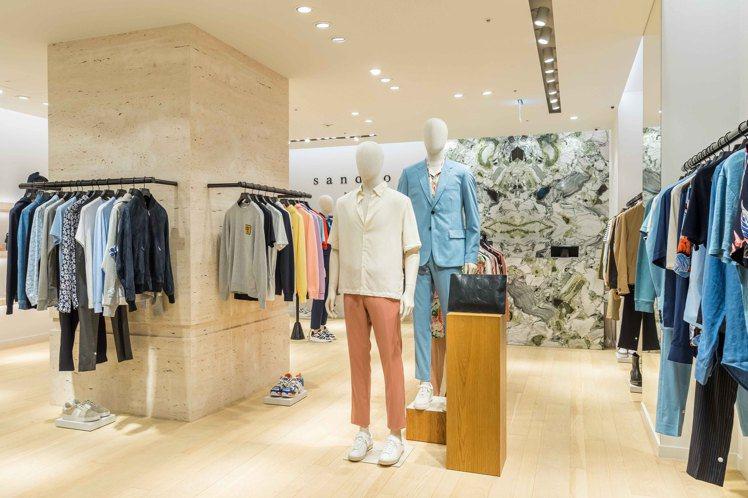sandro Homme首度在台灣開設專門店,位於微風信義3樓。圖/sandro...