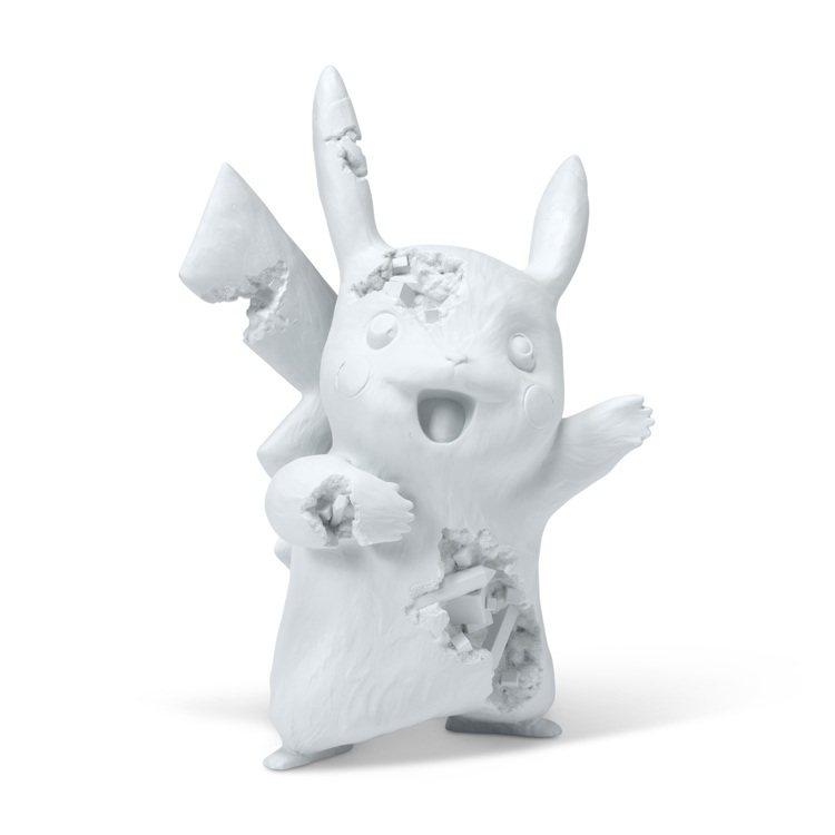 丹尼爾・阿爾軒 X 精靈寶可夢,淺藍色樹脂、氧化鋁、雕塑,並附原裝包裝盒,估價為...