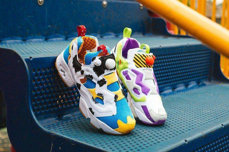 Reebok與潮鞋店鋪BAIT、《玩具總動員》聯名,推出胡迪警長、巴斯光年潮鞋。...