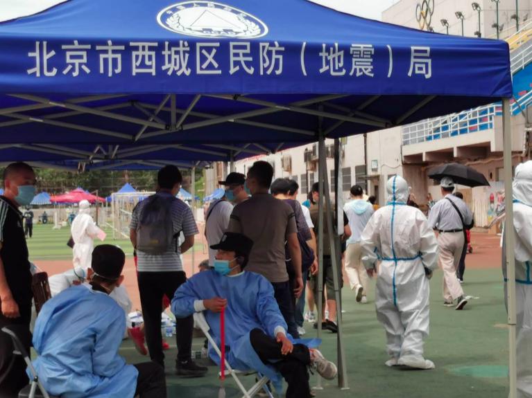 北京十日內已累計報告本土確診病例227例,227例全部在地壇醫院治療。記者賴錦宏/攝影