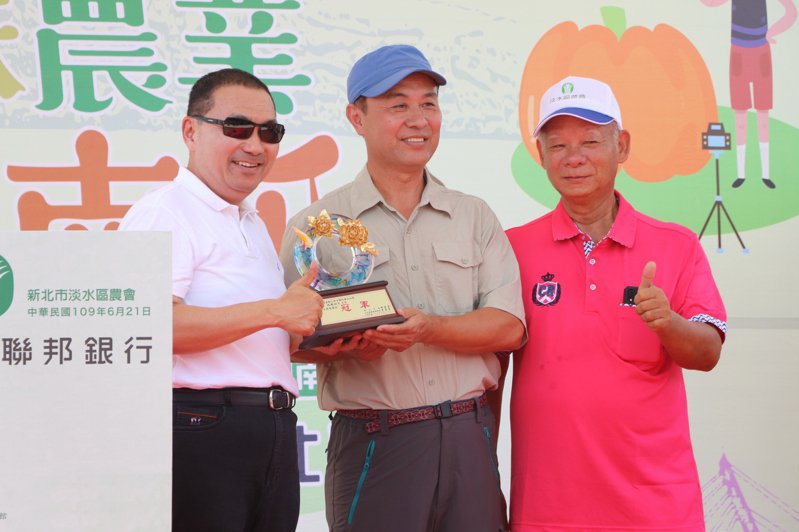 新北市長侯友宜今出席「全國大南瓜比賽」頒獎典禮。記者吳亮賢/攝影