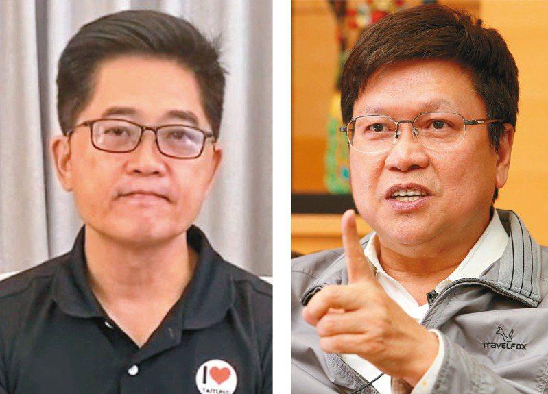黃健庭(左,陳柏亨翻攝)、陳伸賢(右)退出監委提名。圖/聯合報系資料照片