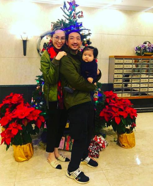 李燦琛(右)和梁志瑩(左)育有1女。 圖/摘自IG