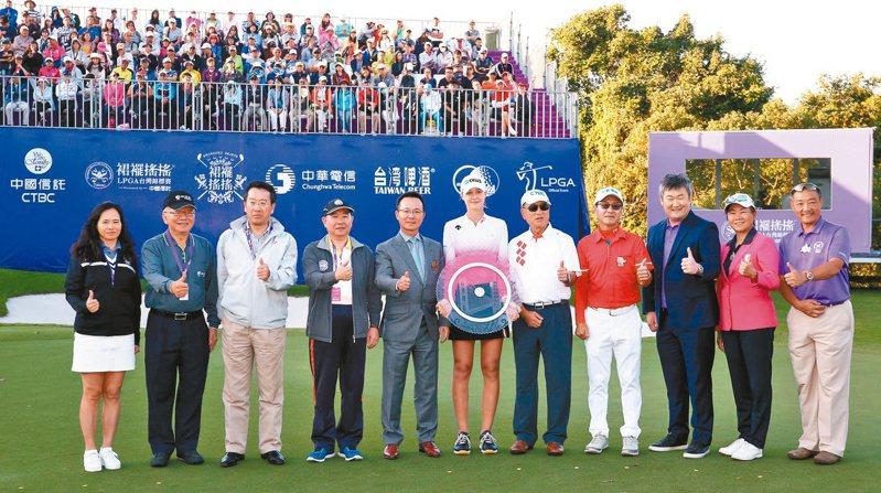 今年LPGA台灣賽是否順利進行,仍有待美方回應。(圖為去年比賽) 報系資料照