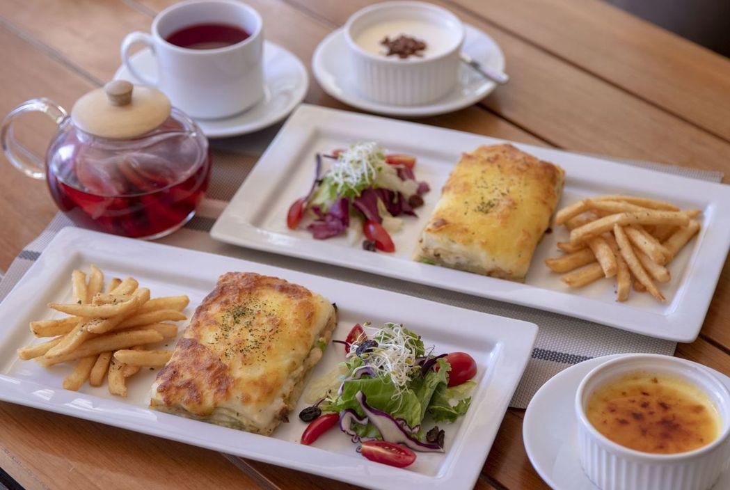 和逸飯店.台北忠孝館肉醬千層麵下午茶套餐。  和逸飯店 提供