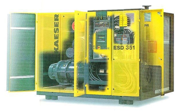 超威國際有限公司引進KAESER直傳式螺旋空壓機。 超威/提供