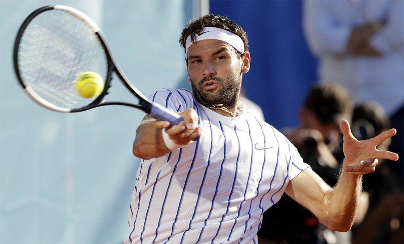 保加利亞男網好手狄米特羅夫確診新冠肺炎。歐新社