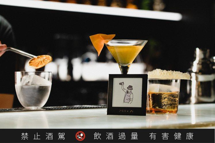 「紳士酒場」活動主題調酒。圖/Bar PUN提供