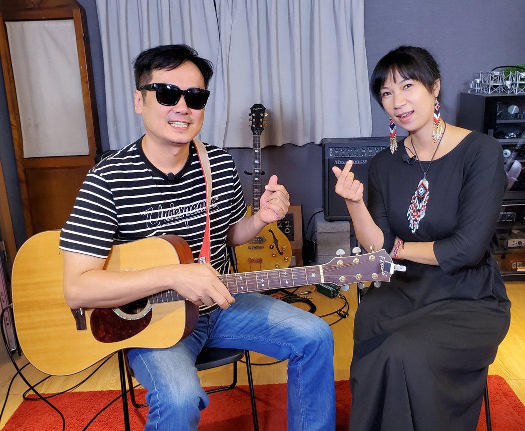 雅維茉芮(右)邀請老公白董一起演出。圖/獨一無二娛樂文化提供