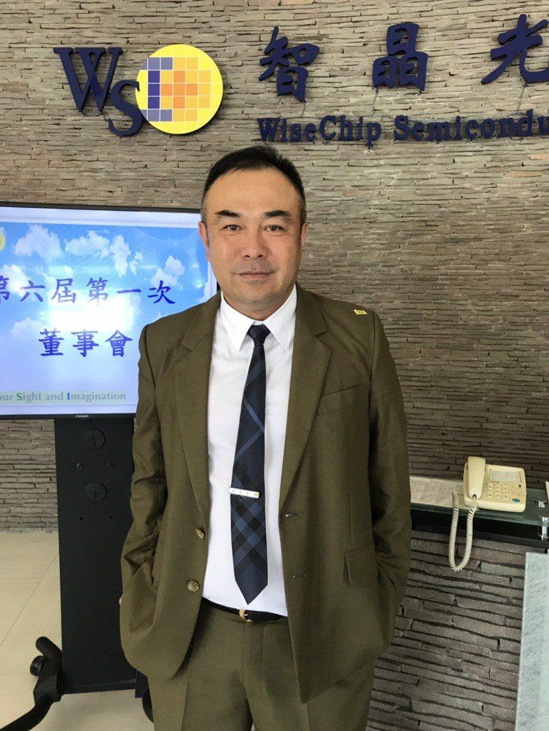 智晶董事長王鴻鈞今(22)日主持股東常會。記者蔡銘仁/攝影