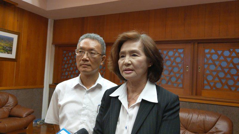 宜兰县长林姿妙(右)表示,守护钓鱼台的主权与渔权,宜兰寸步不让。记者戴永华/摄影