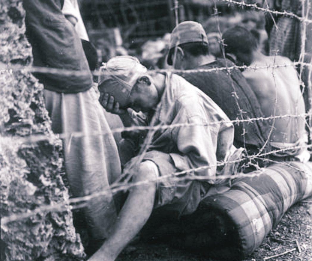 與美軍發生衝突後被抓的沖繩戰俘。 圖/美聯社