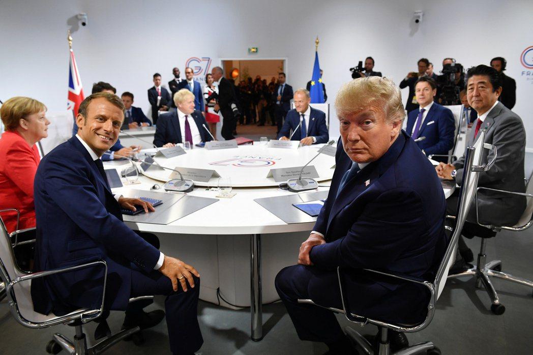 峰會後G7會加深分裂還是促進團結,很快就能知道答案。圖為2019年在法國舉辦的首腦峰會。 圖/路透社