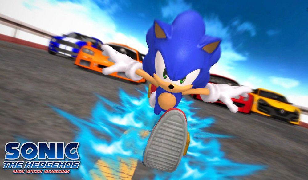 音速小子最大的武器,就是他那極度高速的腳程,這是為了用來打敗瑪利歐的設定。