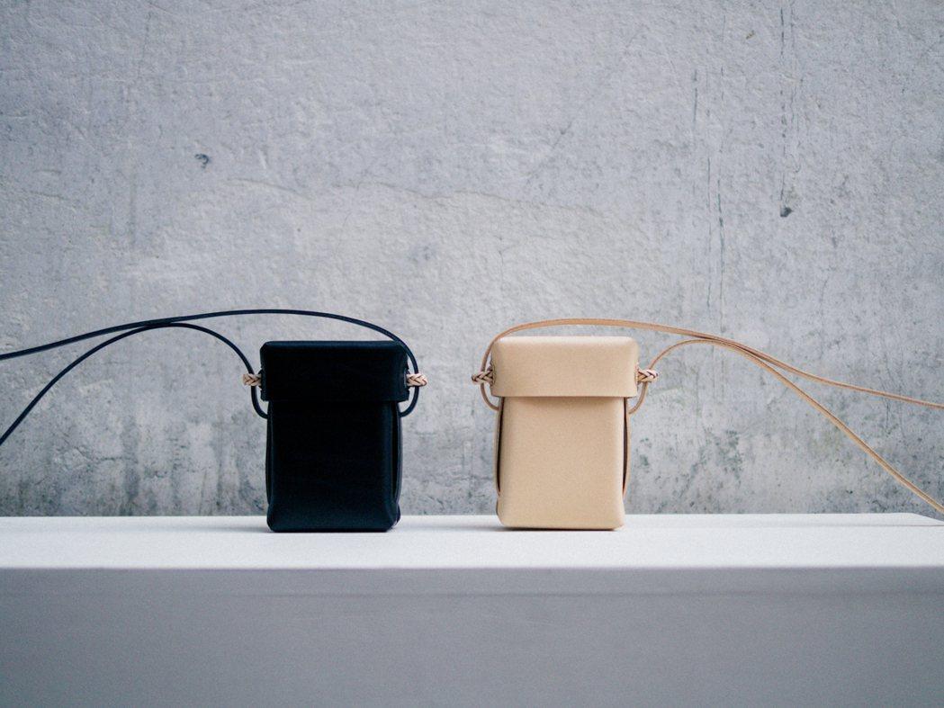 編織相機包,發想自阿美族的隨身工具盒「Kopid」。 圖/Kamaro'an提供