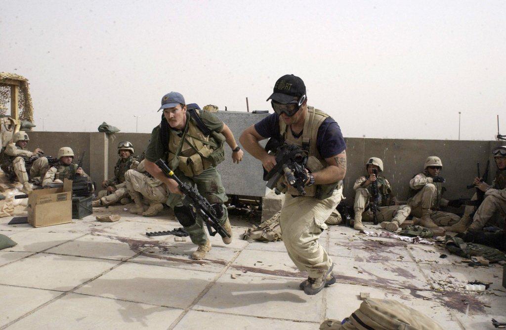 黑水公司傭兵與協同美軍作戰任務。 圖/美聯社