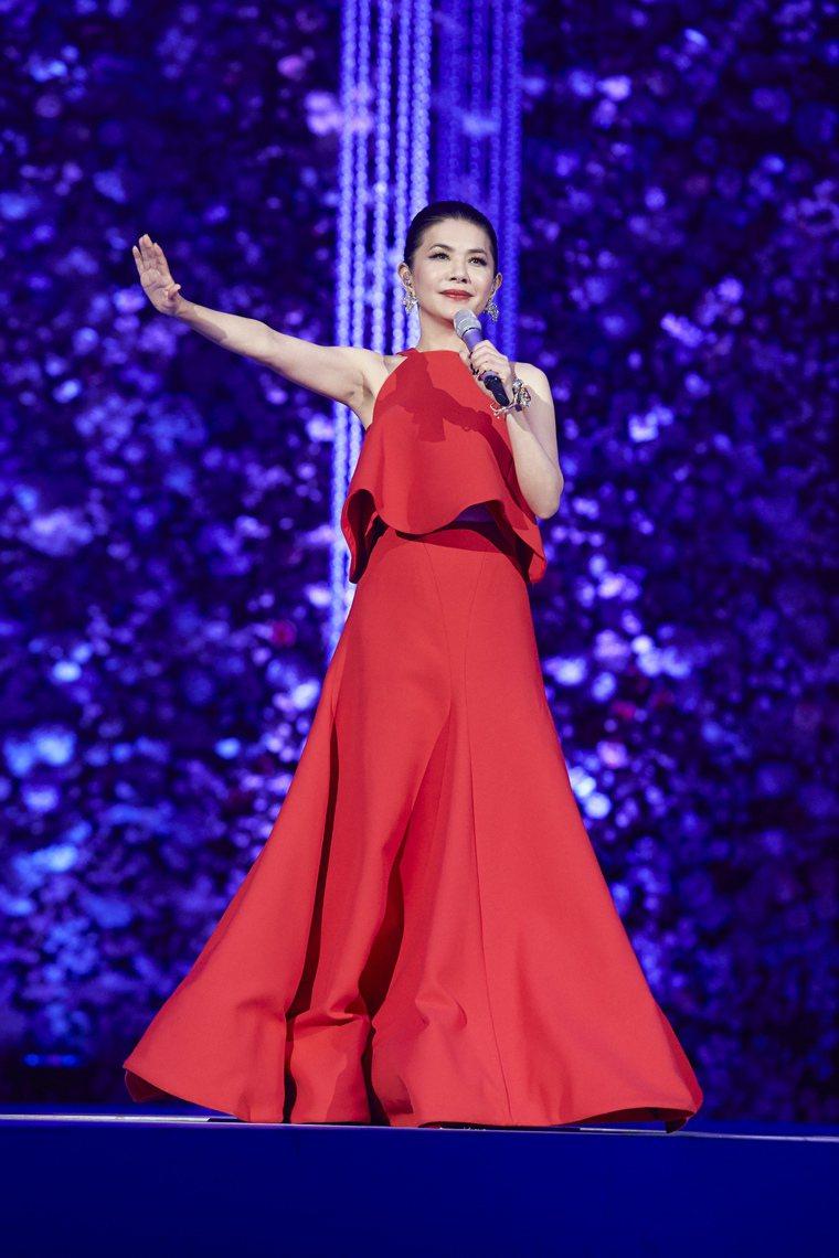 張清芳5年前舉辦「芳華盛宴」出道35周年演唱會。圖/上引娛樂提供