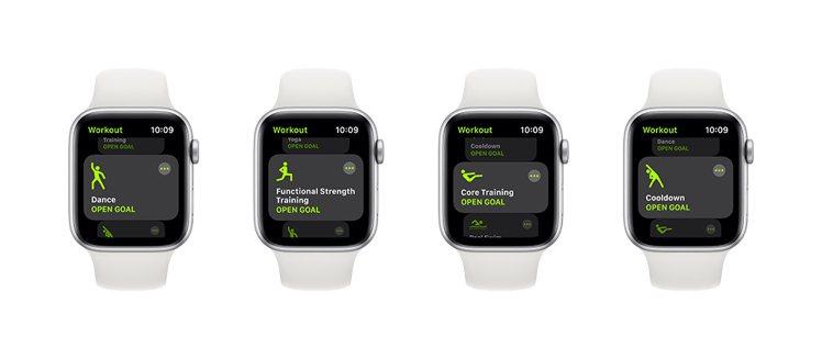 watchOS 7新增了4種運動模式偵測。圖/蘋果提供