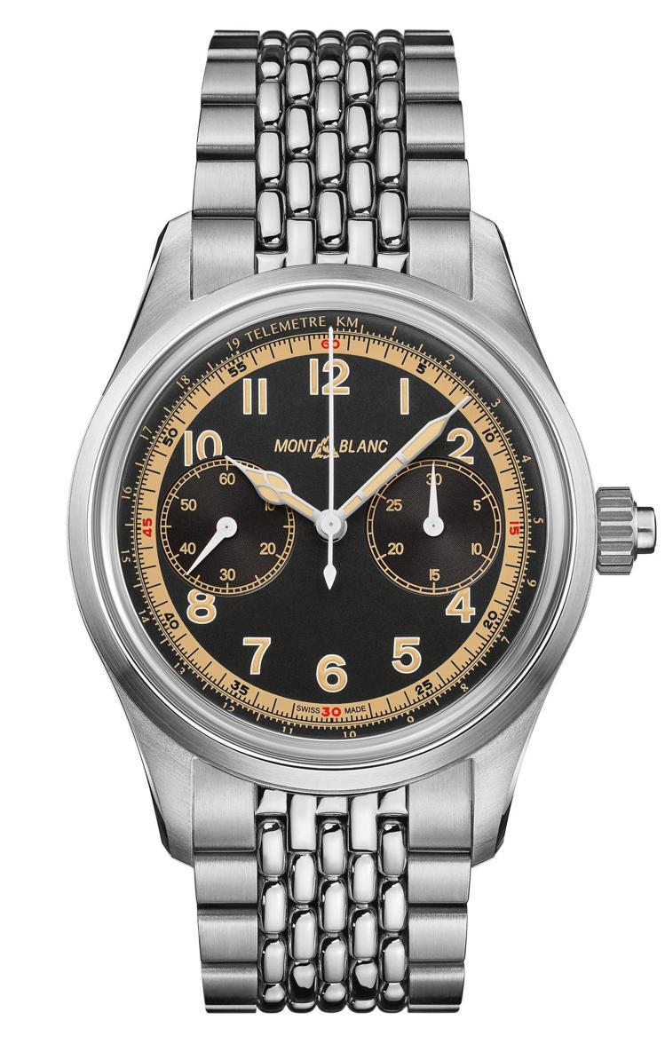 Montblanc,1858系列單按把計時腕表(125582),精鋼,42毫米,...