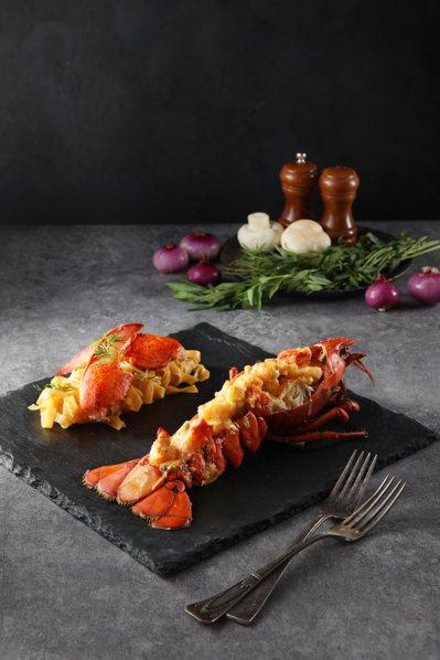 法式經典菜色「熱月龍蝦」。圖/台北亞都麗緻飯店提供