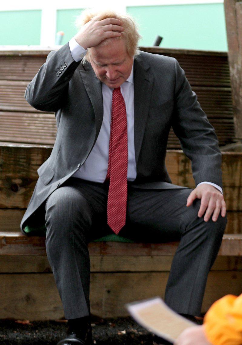 英國首相強生。(法新社)