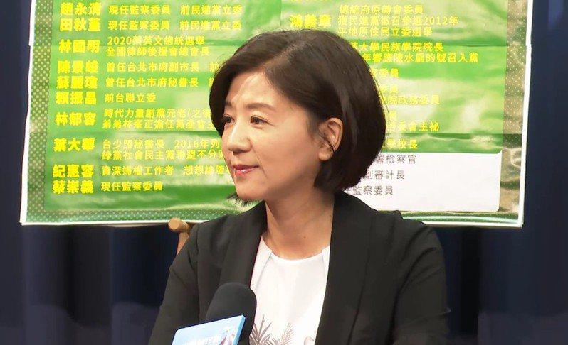 國民黨文傳會主委王育敏今日(23日)抨擊謝長廷不辦「正事」,卻提過往歷史,根本就是在迴避責任。記者陳煜彬/攝影