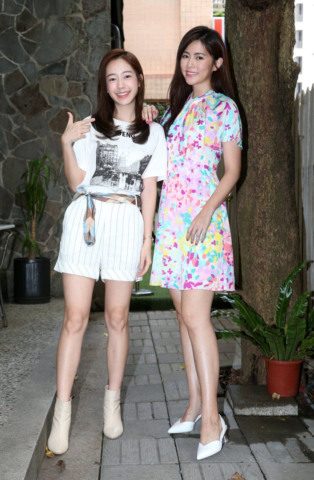 陳天仁(左)、任容萱(右)在「驚夢49天」有突破演出。圖/記者胡經周攝